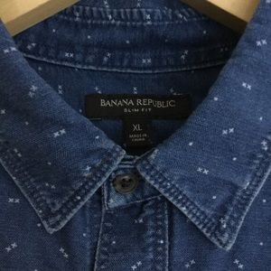 Banana Republic denim button down size xl